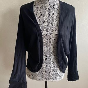 James Perse Black Cardigan Sz Medium